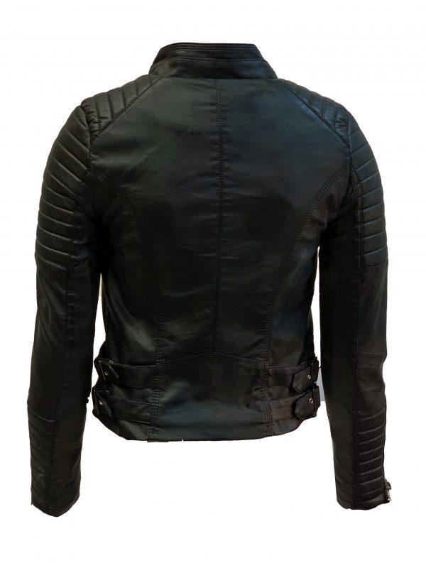 Biker jack zwart van kunstleer – Damesjas bestellen