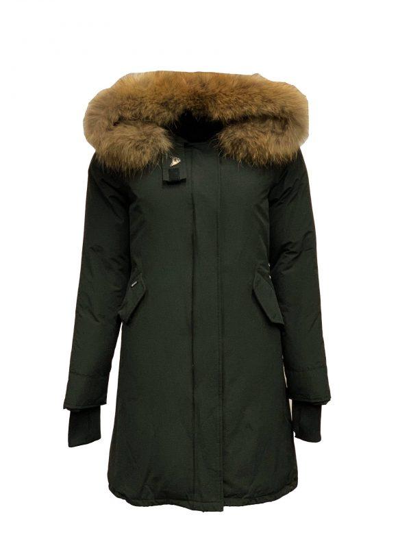 Airforce Dames Winterjas – Fishtail Long Parka RF – True Black bestellen