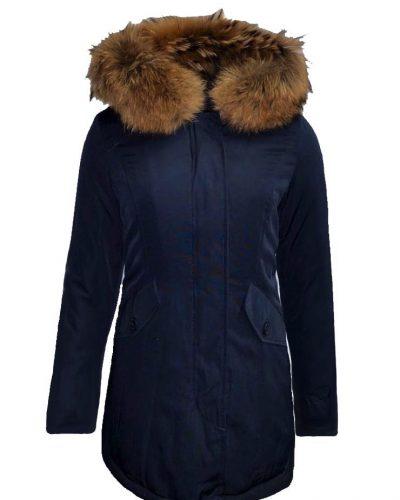 Dames Winterjas – Navy Blauw Canada – Met echte bontkraag bestellen