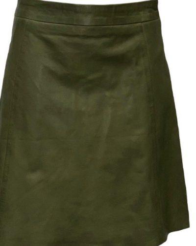Leren dames rok groen kiwi bestellen