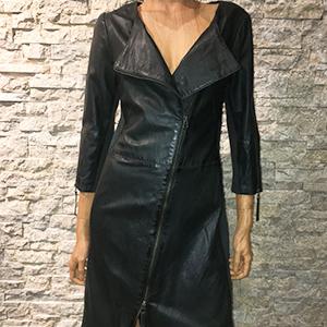 AIM Zwarte leren dames jurk 300x300