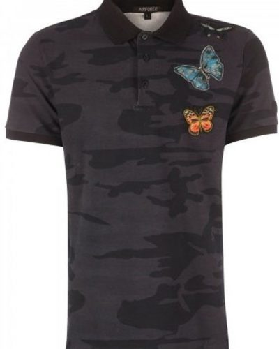 Airforce Camo BUTTERFLY True Black Zwart heren Polo - 2017