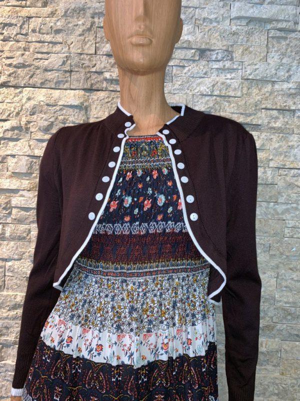 Bordeaux bolero vest dames