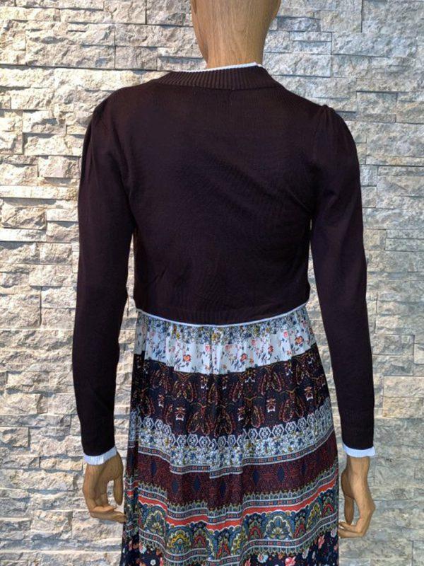 Bolero vest dames bordeaux achterkant
