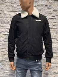 Bruin Pilot leren jas met uitneembaar vacht kraag