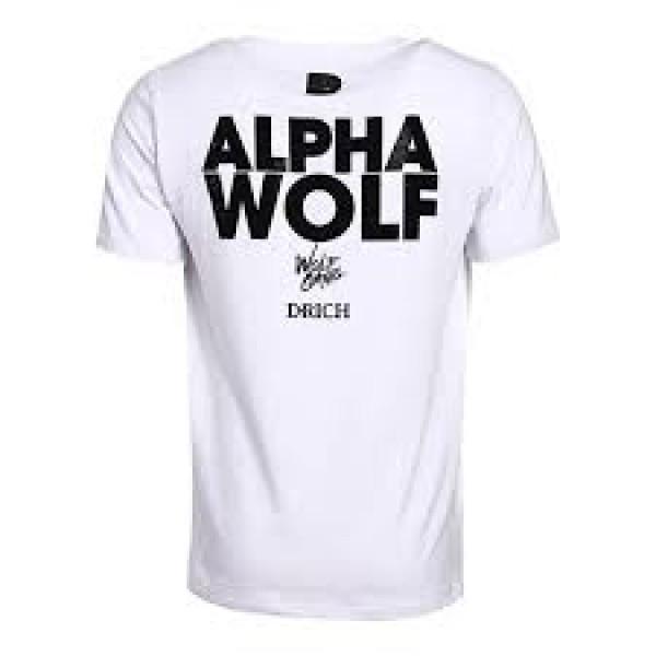 D-Rich Alpha Wolf Heren T-Shirt Wit