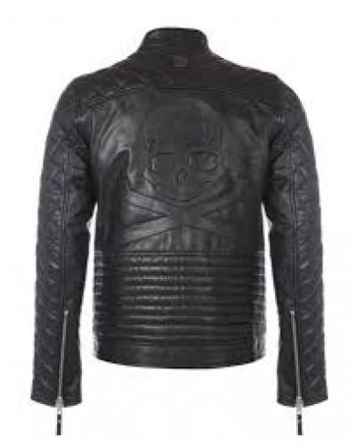 D-Rich leren Bikers jas van 100% Lamsleer - D-Rich Skull Jacket