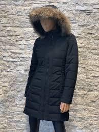 Dames Winter jas met bontkraag zwart