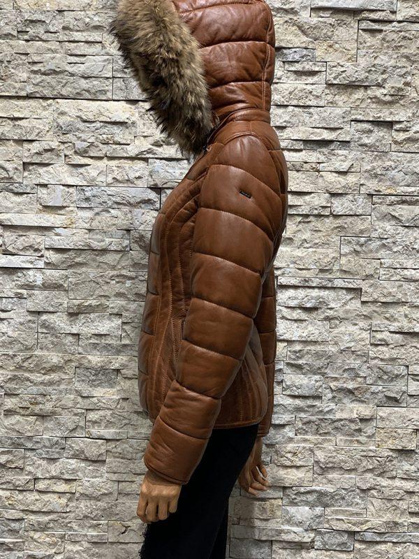 Dames winterjas Bobi met capuchon zijkant