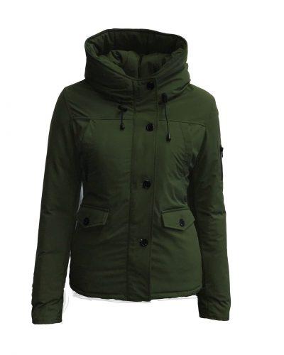 Winter jas groen dames Linda bestellen