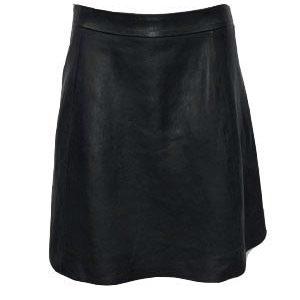 Zwart echt leren rok -Voyella bestellen