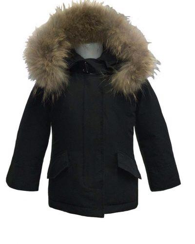 Airforce 2 pocket meisjes jas met echt bont bestellen
