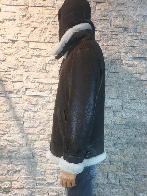 Heren Lammy coat met afneembaar capuchon zijkant