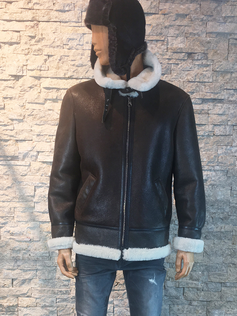 Lammy coat met afneembaar capuchon voor heren