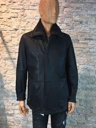 Heren nubuck half lang leren jas