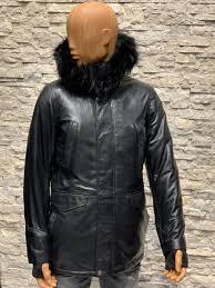 Heren winter jas met bontkraag