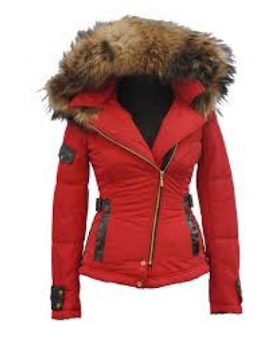 Italiaanse Winter jas met bontkraag voor Dames - Italia