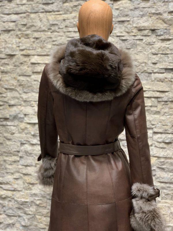Lammy coat parka dames achterkant 2