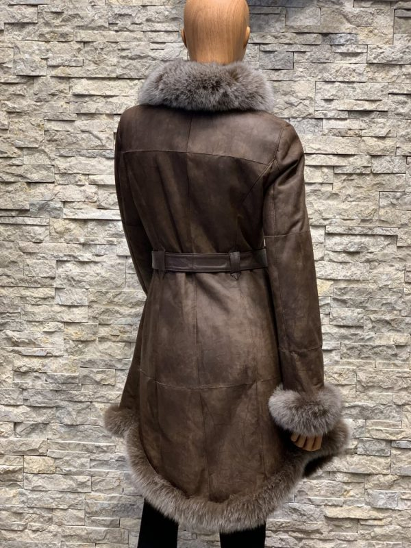 Lammy coat parka dames achterkant