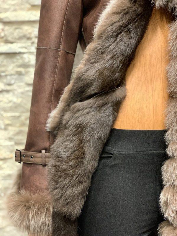 Lammy coat parka dames detail