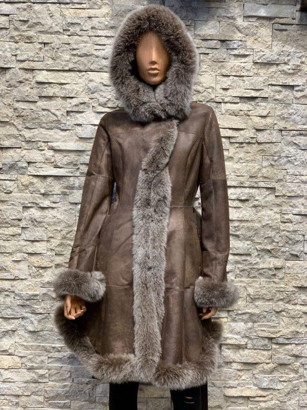 Lammy coat parka dames voorkant