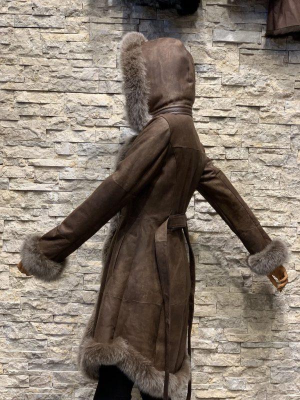 Lammy coat parka dames zijkant