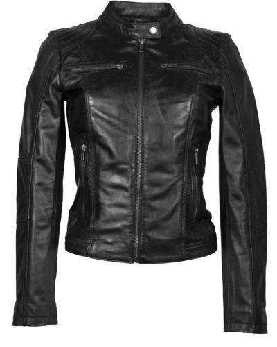 Dames leren zwart jas Sasina bestellen
