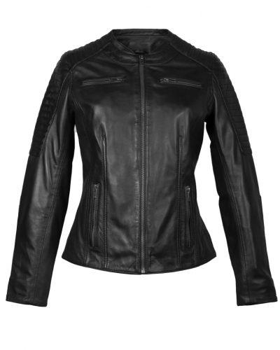 Leren jas dames biker zwart Dona bestellen