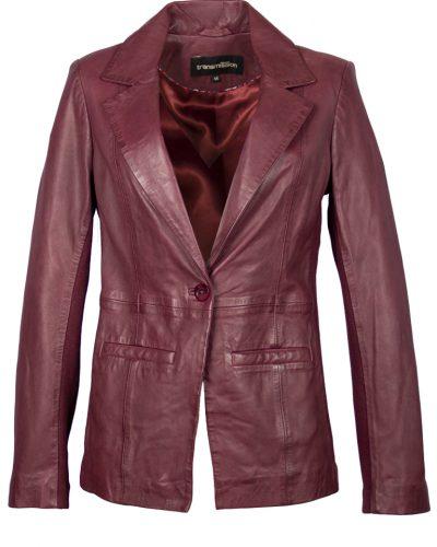Leren dames blazer Aubergine TW18-L002