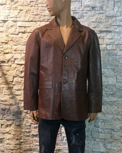 Leren heren jas blazer bruin