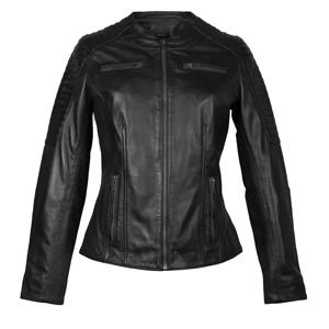 Leren jas dames biker zwart Dona