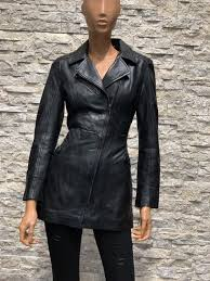 Leren zwart half lang dames jas sofi