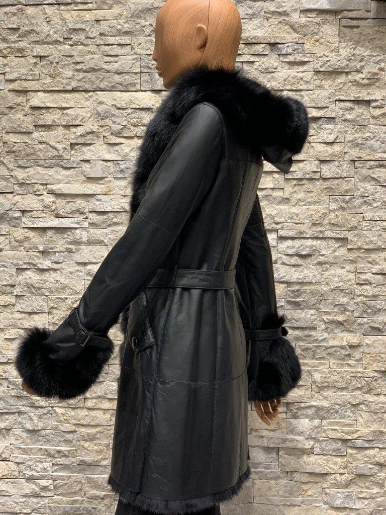 Lammy coat parka zwart