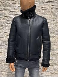 Redskins echt lammy coat heren zwart