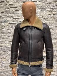 Redskins heren lammy coat bruin van echt lams vacht
