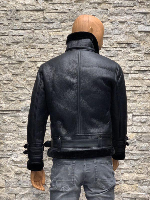 Redskins lammy coat heren zwart achterkant