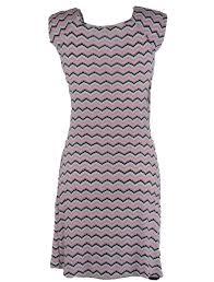 Roze gestreepte vierkanten half lange dames zomerjurk - One size