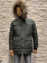 Winter heren jas met afneembaar bontkraag