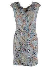 Witte met kleuren mozaik print half lange dames zomerjurk - One size