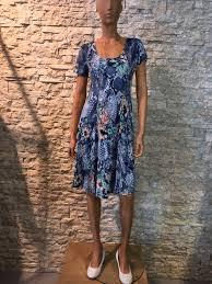 Zomer jurk 94% polyester-6 % elasthanne blauw