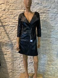 Zwart Leren dames jurk