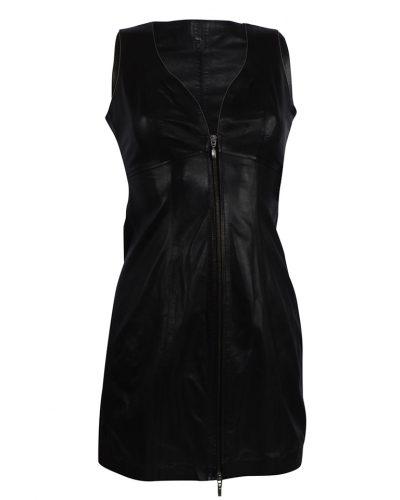 Zwart kort leren jurk 100% Echt leer