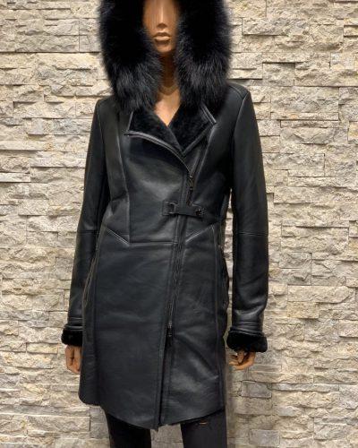Lammy coat dames parka zwart
