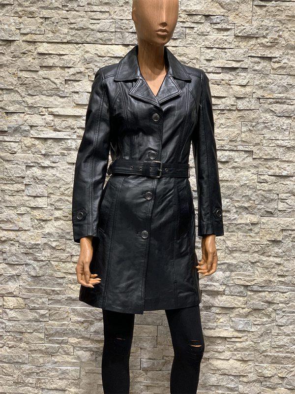Leren Dames jas zwart van lamsleer