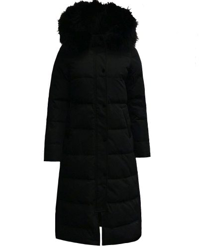 Zwarte lange dames winterjas -Dakata bestellen