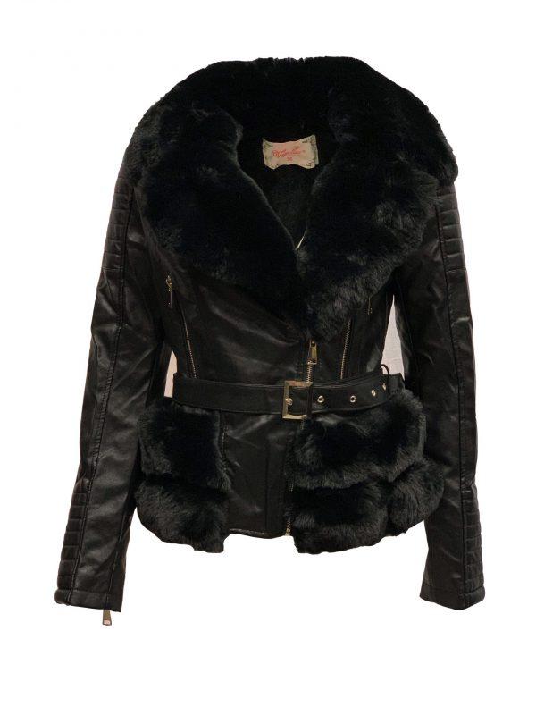 Winter jas dames zwart -ramita bestellen