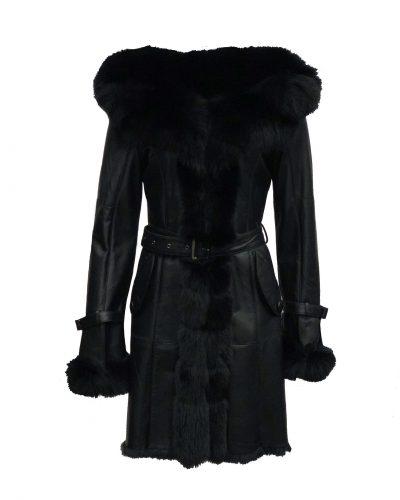 Lang lammy dames jas zwart-rossana bestellen