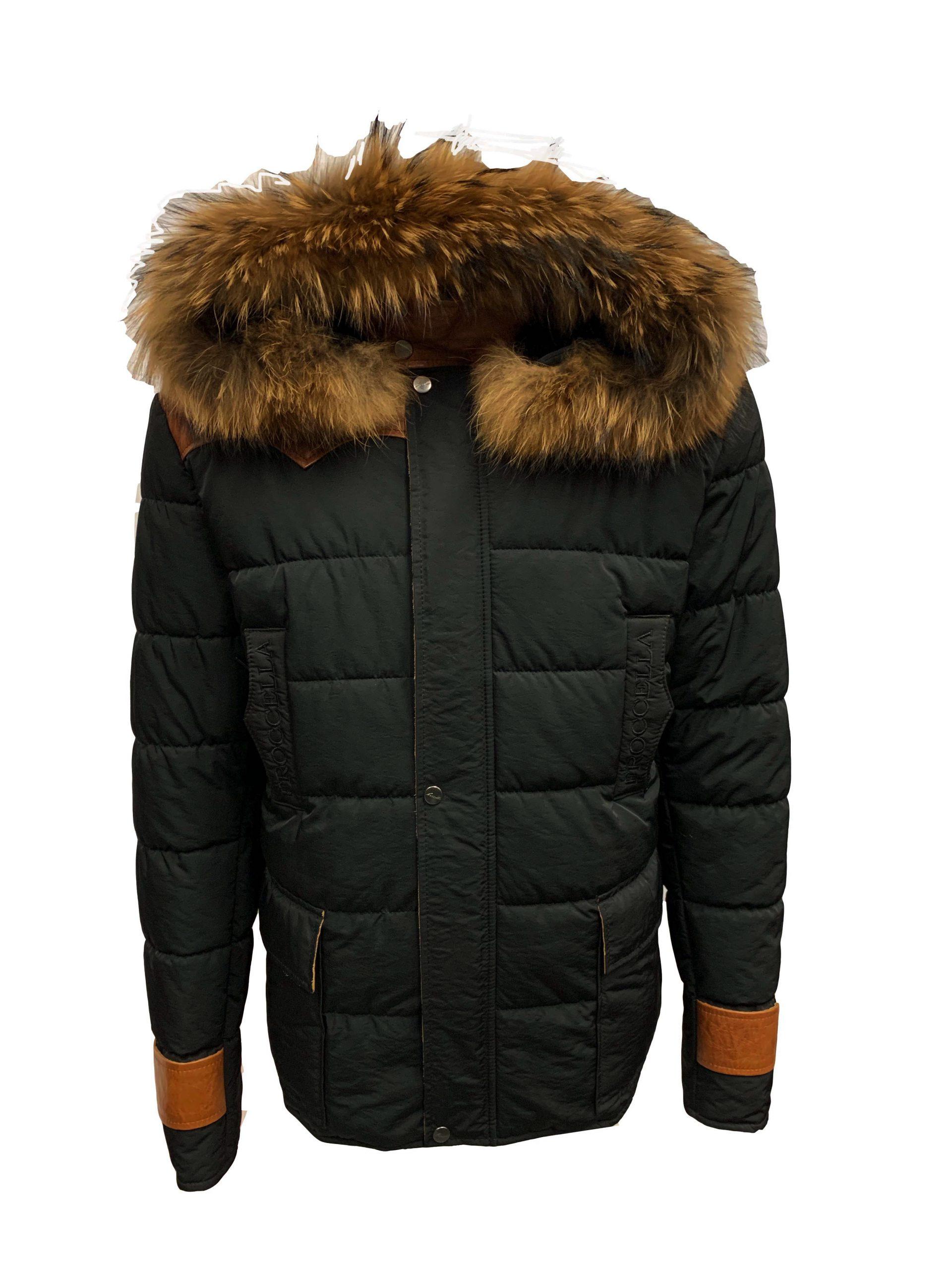 Heren winter jas met bontkraag pariso