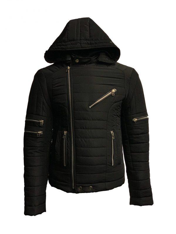 Heren jas met bontkraag ritsana bestellen