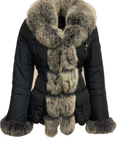 Winter jas met vosbont-Vostana bestellen